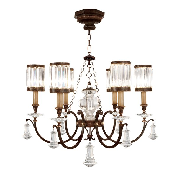 Eaton Place 6 - Light Shaded Tiered Chandelier by Fine Art Lamps Fine Art Lamps