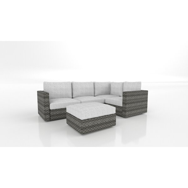 Smith Patio Sectional with Cushions by Bayou Breeze