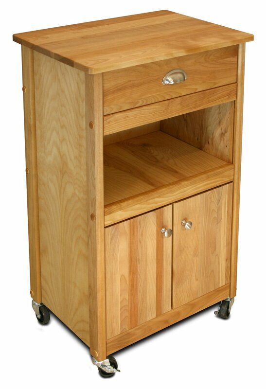 Catskill Craftsmen Cuisine Kitchen Cart With Butcher Block