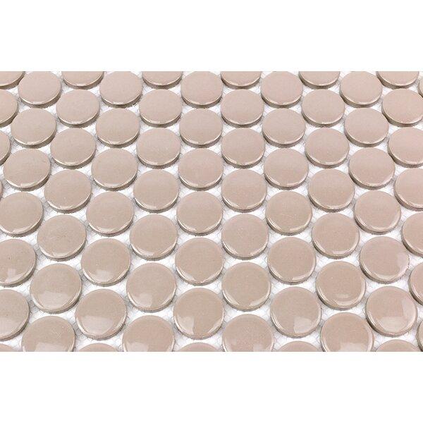 Bliss 1 x 1 Ceramic Mosaic Tile in Beige by Splashback Tile
