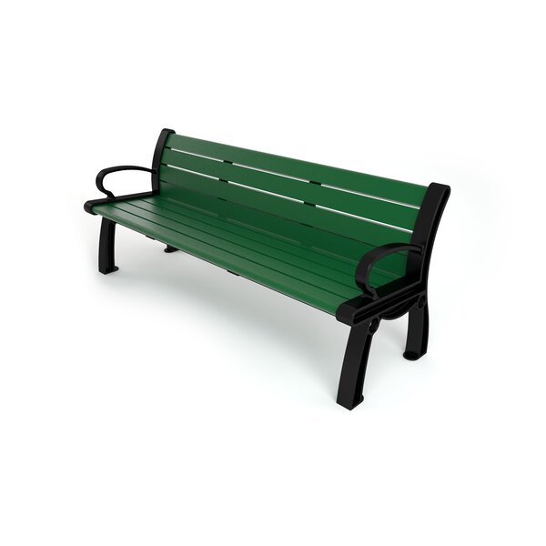 Heritage Recycled Plastic Park Bench by Frog Furnishings Frog Furnishings