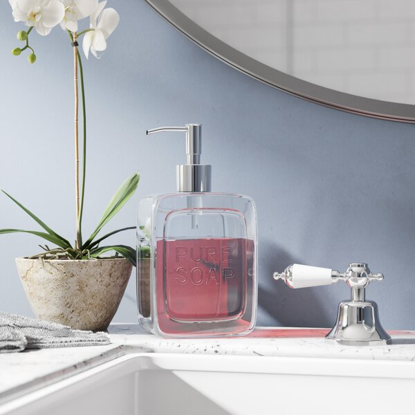 Jake Pure Glass Pump Soap Dispenser by Langley Street