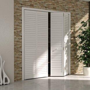 Plantation Louver Panel Wood Bi-Fold Door & Interior Bifold Doors | Wayfair