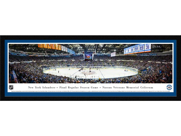 NHL New York Islanders - Center Ice by James Blakeway Framed Photographic by Blakeway Worldwide Panoramas, Inc