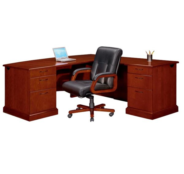 Belmont Right 6 Drawers L-Shape Executive Desk with by Flexsteel Contract