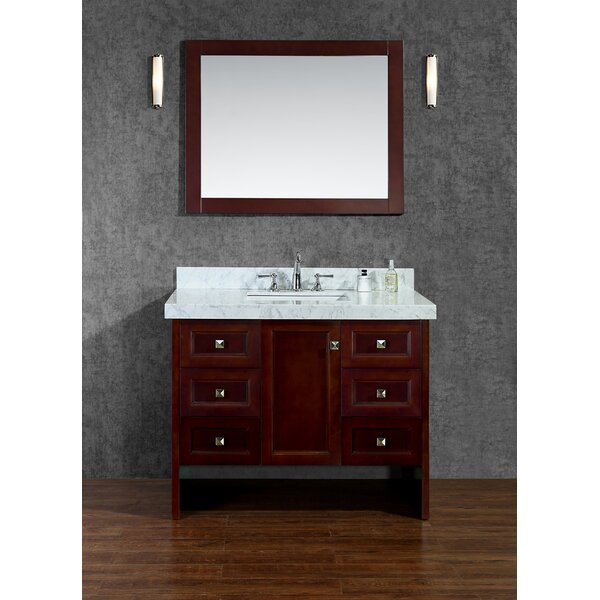 Beckonridge 42 Single Bathroom Vanity Set with Mirror by Ariel Bath