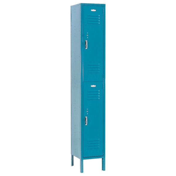 2 Tier 2 Wide Locker by Nexel