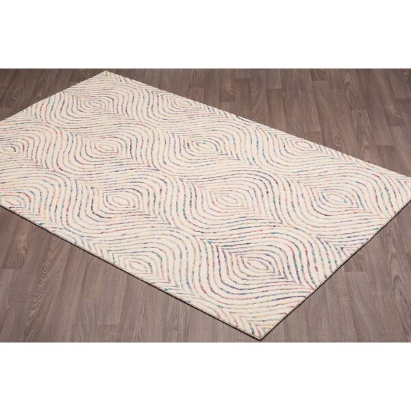 Quiles Hand-Woven Ivory Wool Area Rug by Bungalow Rose