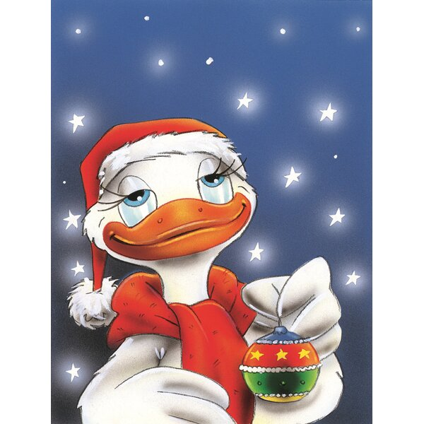 Duck with Christmas Ornament 2-Sided Garden Flag by Caroline's Treasures