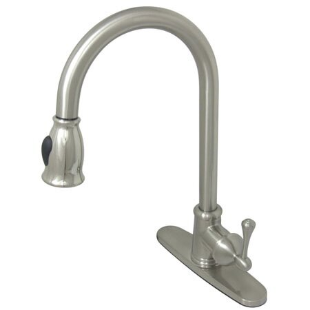 Vintage Pull Down Single Handle Kitchen Faucet by Kingston Brass