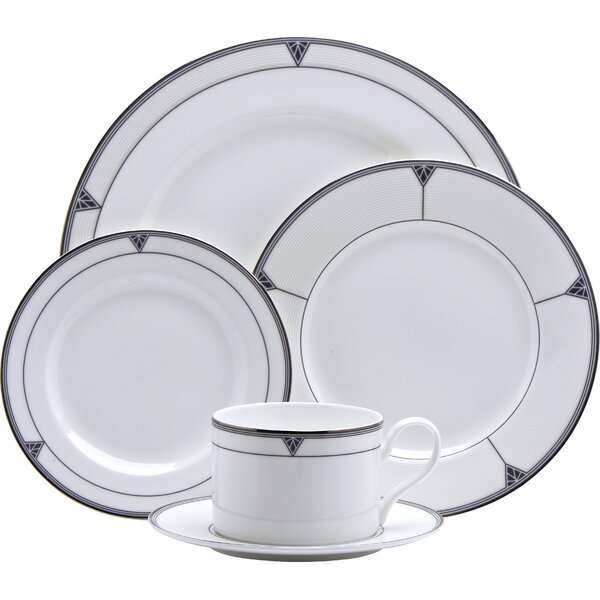 Deauville Bone China 5 Piece Place Setting Set, Service for 1 by Oneida