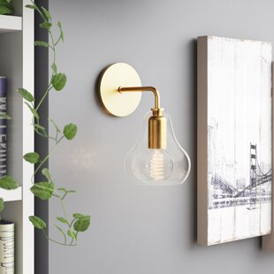 Reviews Amina 1-Light Armed Wall Sconce By Trent Austin Design