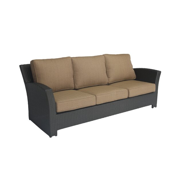 Kissling Wicker Patio Sofa with Cushions by Alcott Hill