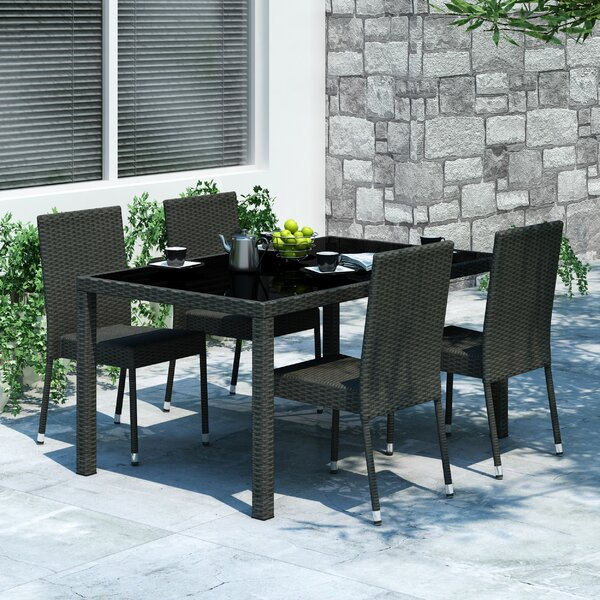 Abbeyville 5 Piece Dining Set by Wrought Studio