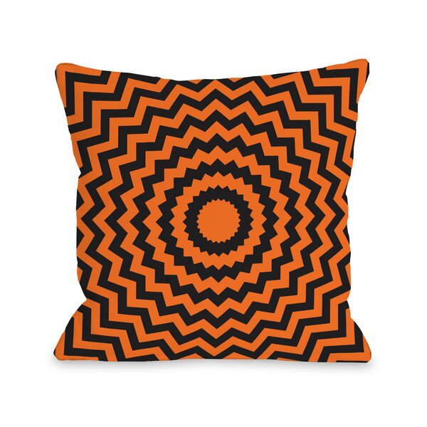 Halloween Chevrons Throw Pillow by One Bella Casa