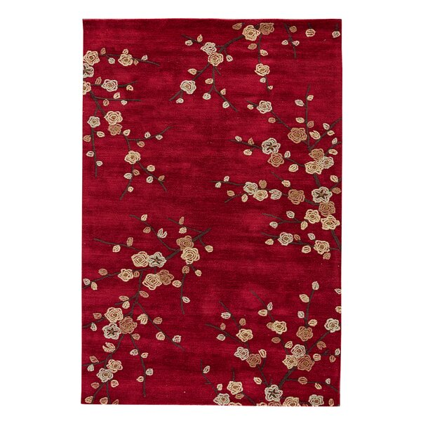 Anselmo Cherry Blossom Red Area Rug by Red Barrel Studio