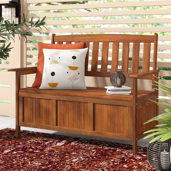 Arianna Outdoor Hardwood Garden Bench by Langley Street