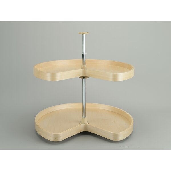 Banded Wood Kidney 2 Shelf Lazy Susan by Rev-A-Shelf