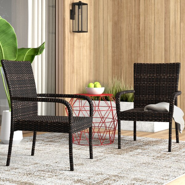 Hawes Patio Chair (Set of 2) by Mercury Row