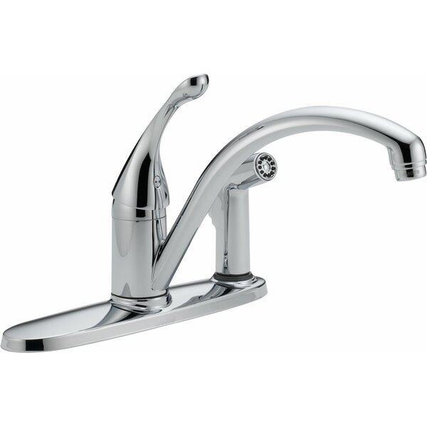 Collins Single Handle Centerset Kitchen Faucet with Spray and Diamond Seal Technology by Delta