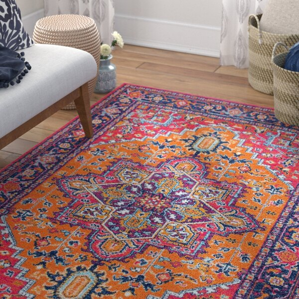 Ashlee Pink/Orange Area Rug by Mistana