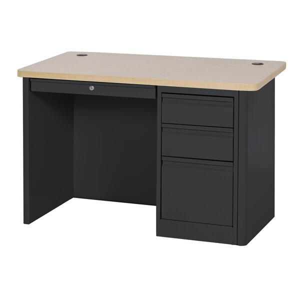 900 Series Single Pedestal Computer Desk by Sandusky Cabinets