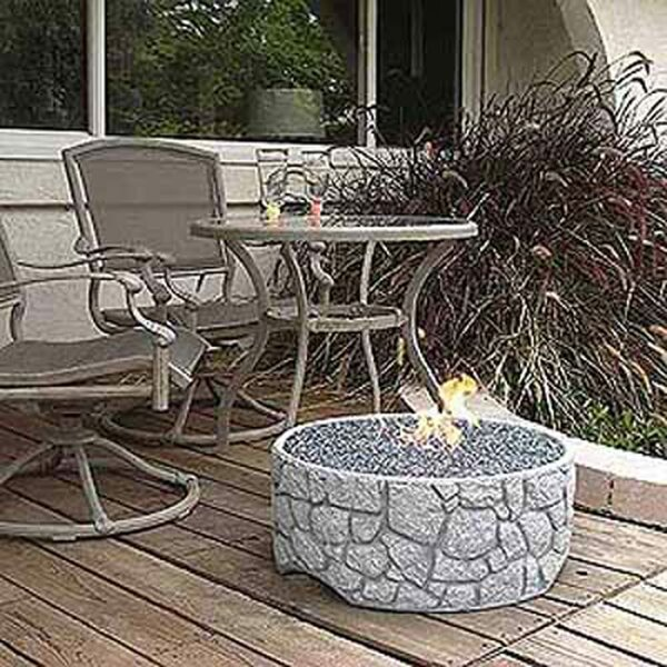River Rock Fire Pit by Tretco
