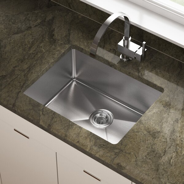 Stainless Steel 18 x 23 Undermount Kitchen Sink by MR Direct