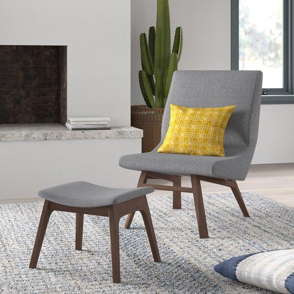Dario Slipper Chair and Ottoman by Mistana Mistana