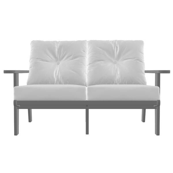 Polywood® Modern Deep Seating Loveseat with Cushions by Sol 72 Outdoor