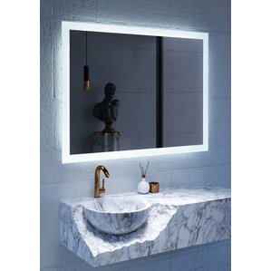 lighted wall mirror. led lighted mirror wall d