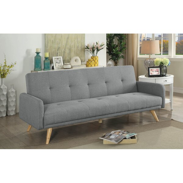 futon for living room.  Ivy Bronx Vina Convertible Mid Century Modern Futon Reviews Wayfair