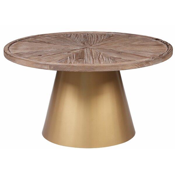 Joubert Pedestal Coffee Table by Everly Quinn Everly Quinn