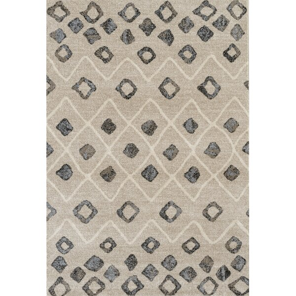 Fossen Modern Beige Area Rug by Wrought Studio