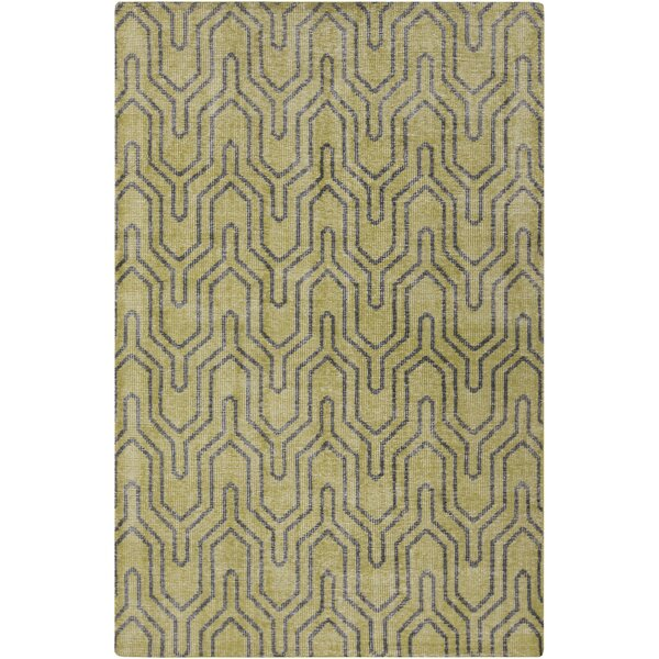 Casteel Geometric Lime Area Rug by Wrought Studio