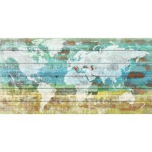 'Aqua Day' by Parvez Taj Painting Print on White Wood by Parvez Taj