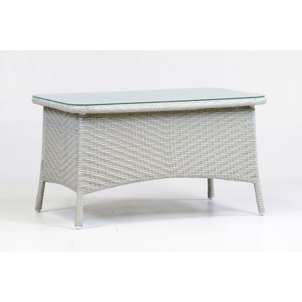 Isabell Wicker Coffee Table by Highland Dunes