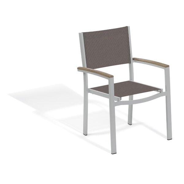 Laskowski Travira Teak Patio Dining Chair (Set of 2) by Latitude Run