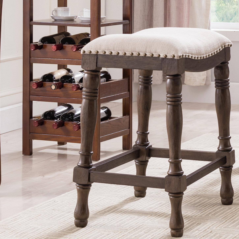 Strange Alcott Hill Argonaut Wood And Linen Saddle Counter 25 Bar Theyellowbook Wood Chair Design Ideas Theyellowbookinfo