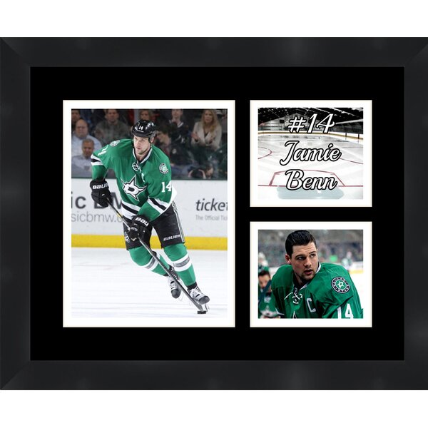 Dallas Stars Jamie Benn 14 Photo Collage Framed Photographic Print by Frames By Mail