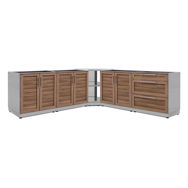 Kitchen 5 Piece Outdoor Bar Center by NewAge Products