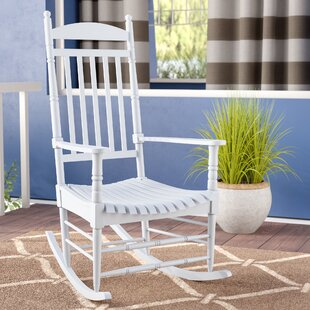 Rayane Solid Wood Rocking Chair August Grove