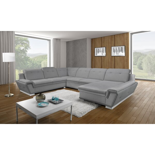 Dicarlo Right Hand Facing Sleeper Sectional by Orren Ellis