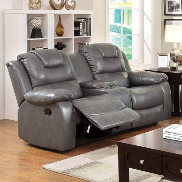 Noker Leather Reclining Sofa by Red Barrel Studio