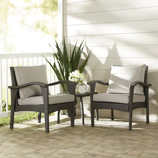 Hagler 3 Piece Conversation Set with Cushions by Sol 72 Outdoor