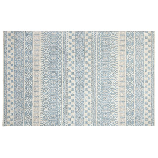 Galen Hand-Woven Wool Blue Area Rug by Ophelia & Co.