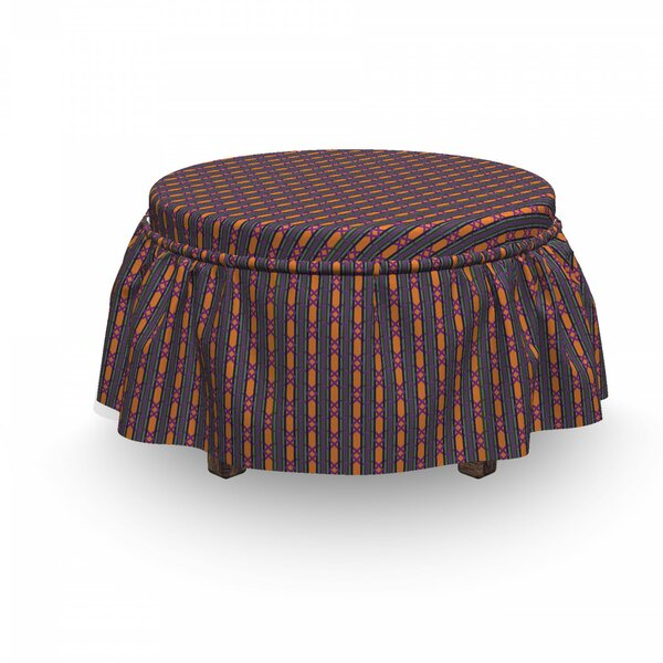 Primitive Tile Ottoman Slipcover (Set Of 2) By East Urban Home