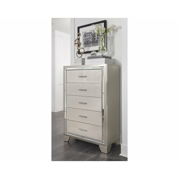 Bastian 5 Drawer Chest by House of Hampton