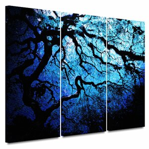 'Japanese Ice Tree' by John Black 3 Piece Graphic Art on Wrapped Canvas Set by ArtWall
