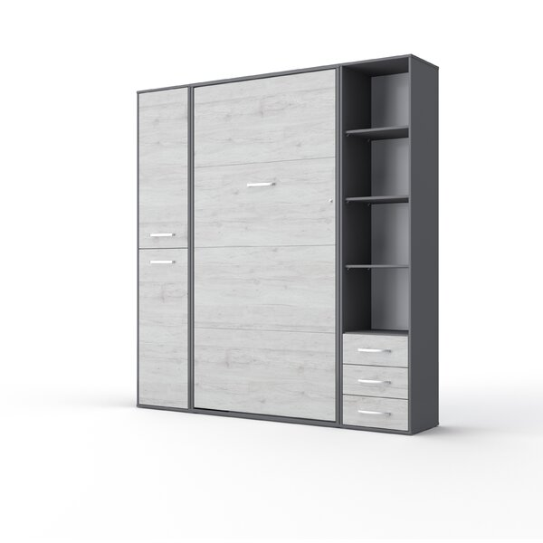 Newark Vertical King Storage Murphy Bed with Mattress by Orren Ellis Orren Ellis